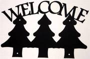 Three Tree Black Metal Welcome SIgn