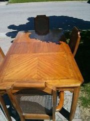 Oak dining set with hutch $150.00