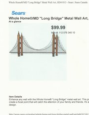 Beautiful Metal Wall Art - Brand New